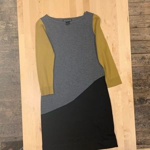 Jessica Howard Sweater Dress Color Block Size M